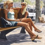 """Two Blondes"", 2007, oil on linen, 200x200cm"