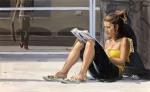 """""""Girl Reading"""", 2007, oil on linen, 120x195cm"""
