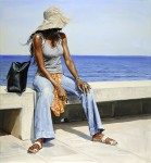 """Staring at the Sea"", 2007, oil on linen, 162x150cm"