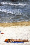 Seaside Siesta, 2006, oil on canvas, 146x97cm