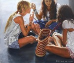 """Sitting in a Circle"", 2008, oil on linen, 170x200cm"
