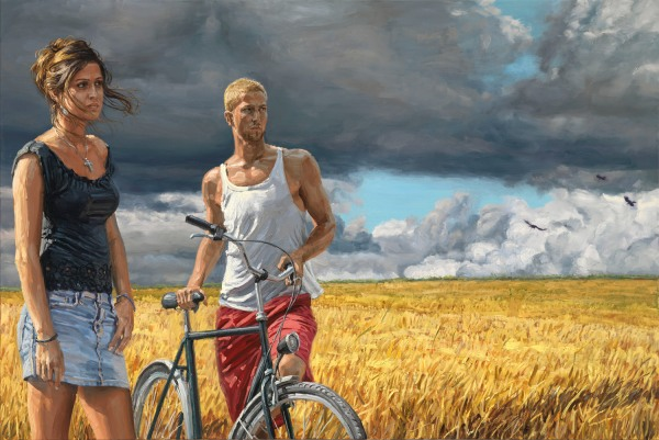 """The Coming Storm"", 2010, oil on linen, 100x150cm"
