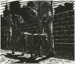 """The Girl's Dog"", 2009, linocut, 20.5x24cm"