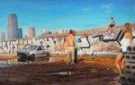 """Al otro lado"" (The Other Side), oil on linen, 190x300cm"
