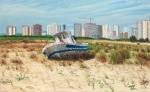 """""""El viejo barco"""" (The Old Boat), oil on linen, 80x140cm"""