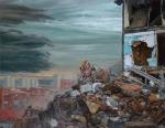"""Los Restos"" (The Remains), oil on linen, 140x180cm"