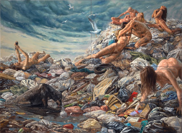"""Consuming Desire"", oil on linen (quadriptych), 220x300cm"