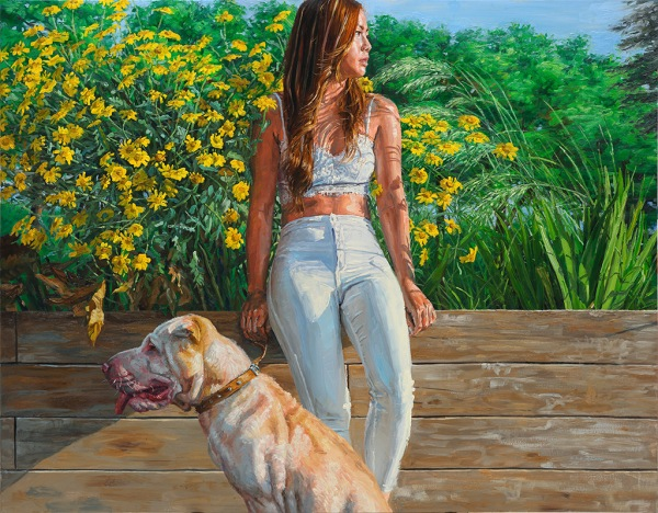 Girl and Dog, oil on canvas, 114x146cm
