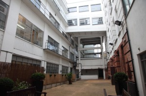 The courtyard of the building