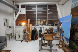 My new studio at The Chocolate Factory, London