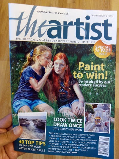 The Artist magazine cover, Michele Del Campo