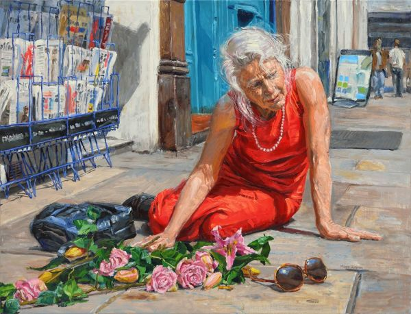 michele del campo,The Fall-The elderly lady