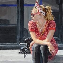girl-in-red,-40x40cm