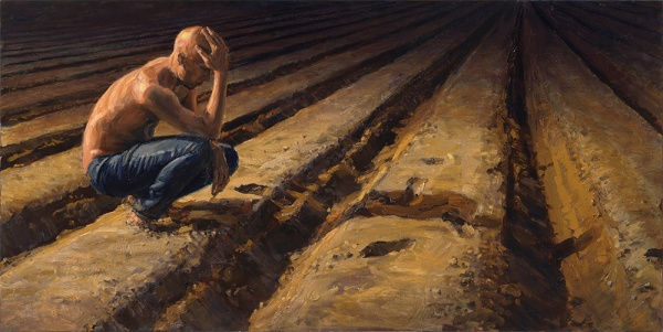 michele del campo-night-thinker,-60X120cm